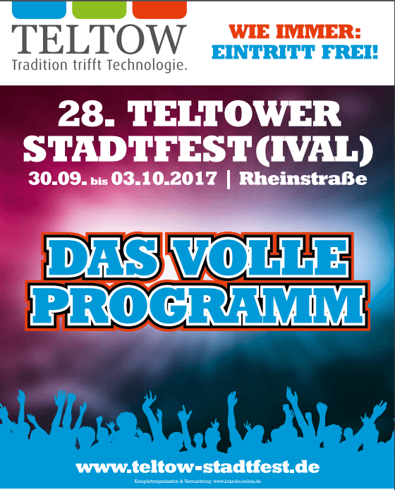 Teltower Stadtfest & neue Möglichkeit der Geldüberweisung